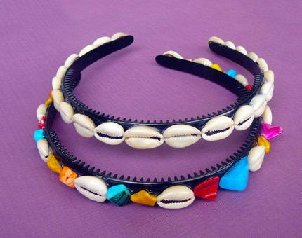 Cowrie Shell Headband Made By Racquel Dwomoh