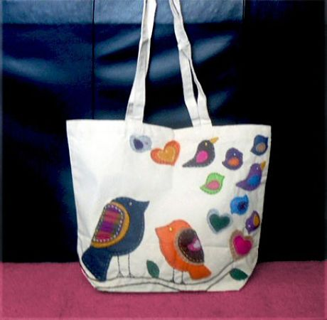 Love Birds Tote Bag