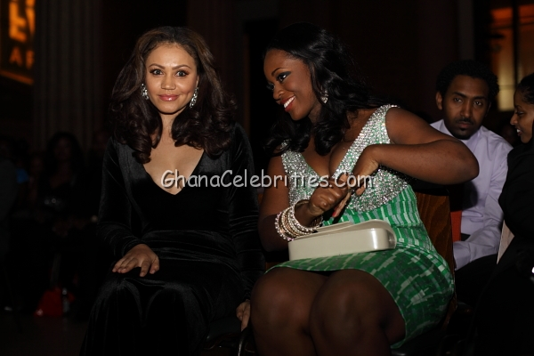 Nadia Buari & Jackie Appiah At 2011 Face List Awards In New York