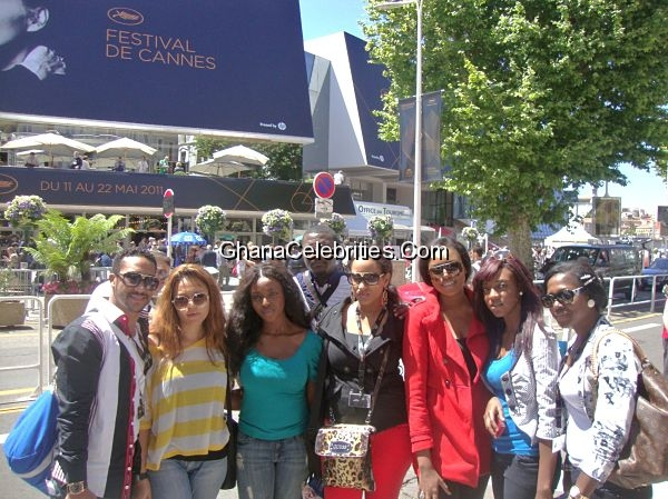 John Dumelo, Majid Michel, Juliet Ibrahim, Nadia Buari, Nikki Somonas, Yvonne Okoro, Yvonne Nelson, Leila Djansi, Abdul Salam, Fred Nuamah At Cannes