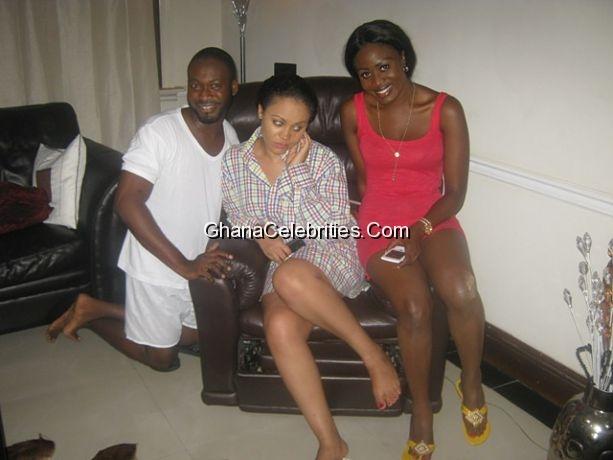 Husband [Adjetey Anang], wife [Nana Akua Addo] & husband snatcher [Nadia Buari]