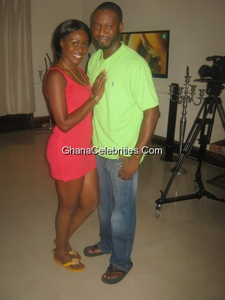 Nana Akua Addo & Adjetey 'Pusher' Anang, husband and wife in the movie 1