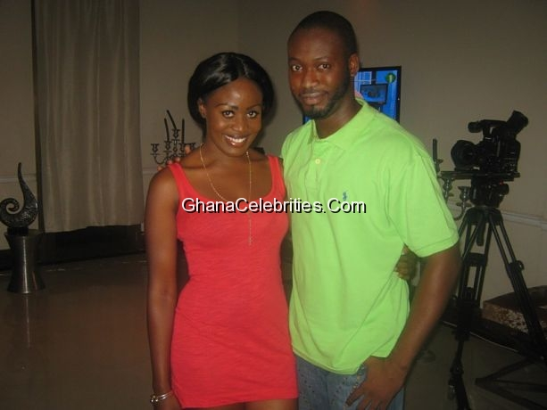 Nana Akua Addo & Adjetey 'Pusher' Anang, husband and wife in the movie