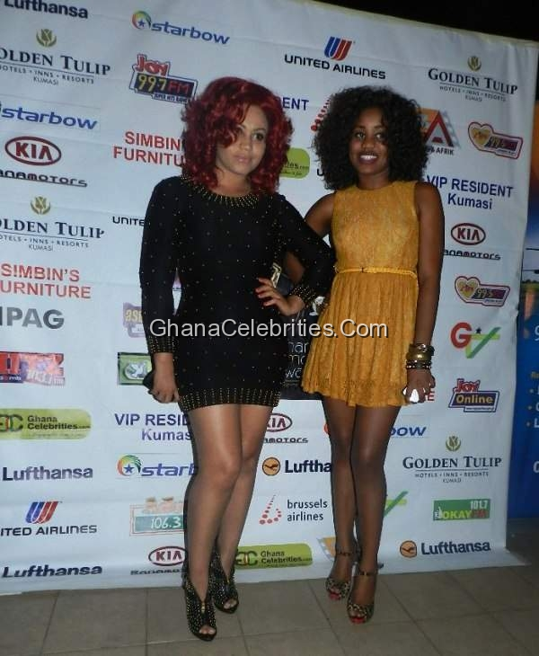 Nadia Buari & Sister At Ghana Movie Awards Nominees Party