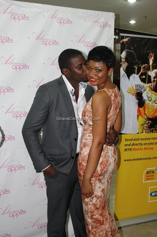 Actor John Dumelo and host of Fashion101, Sandra Ankobiah