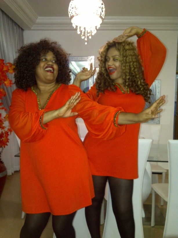 Nadia Buari And Her Mom