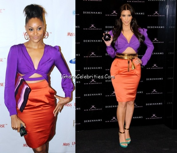 Menaye Donkor And Kim-Kardashian in Gucci