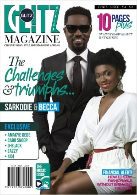 Sarkodie And Becca Covers Glitz Africa Magazine