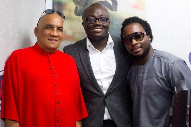 Lionel Petersen, Bola Ray And Sonnie Badu In Ghana