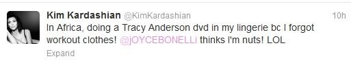 Kim Kardashian tweet-Ivory Coast