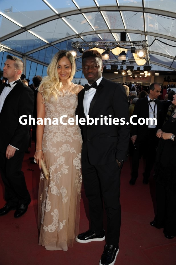 Menaye and Sulley at Cannes 'Venus in Fur' Premiere