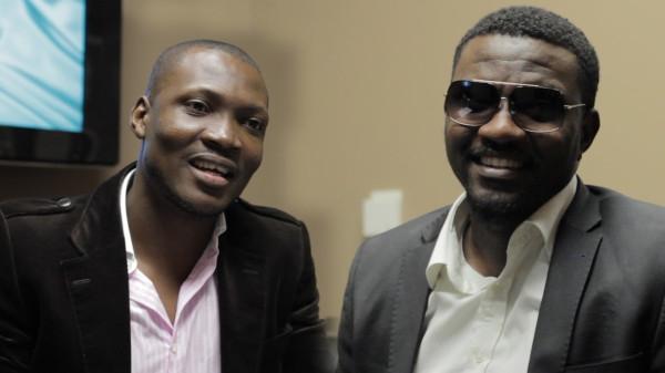 Seyi Brown and John Dumelo