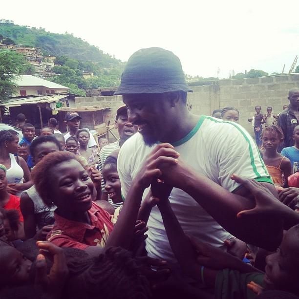 John Dumelo In Sierra Leone