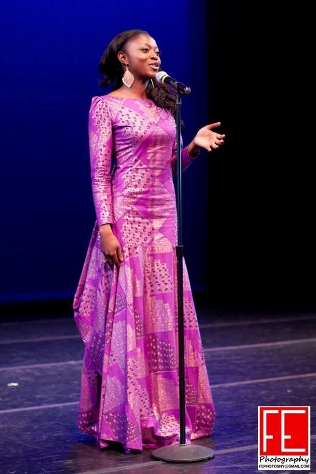 Afua Osei, representing the Upper East Region as Miss Ghana USA 2013