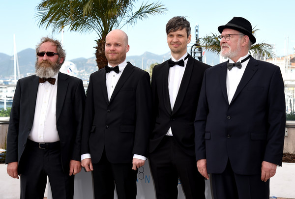 Hrutar Photo Call-(L-R) Actor Sigurdur Sigurjonsson, director Grimur Hakonarson, cinematographer Sturla Brandth Grovlen, and actor Theodor Juliusson attend a photocall for Hrutar - Beliers - Rams during the 68th annual Can