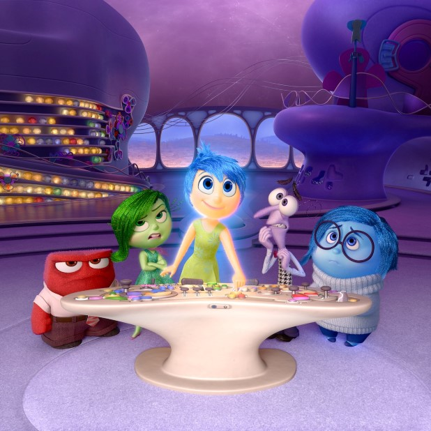 """Disney•Pixar's """"Inside Out"""" takes us to the most extraordinary location yet - inside the mind of Riley. Like all of us, Riley is guided by her emotions - Anger (voiced by Lewis Black), Disgust (voiced by Mindy Kaling), Joy (voiced by Amy Poehler), Fear (voiced by Bill Hader) and Sadness (voiced by Phyllis Smith). The emotions live in Headquarters, the control center inside Riley's mind, where they help advise her through everyday life. Directed by Pete Docter and produced by Jonas Rivera, """"Inside Out"""" is in theaters June 19, 2015."""