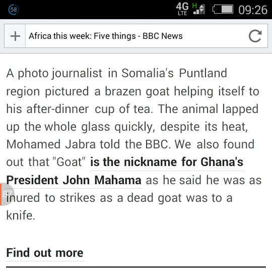 President Mahama is called a GOAT