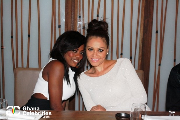 Nana Aba Anamoah and Nadia Buari