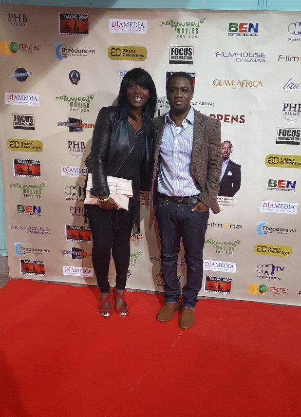 SassyChic and Chris-Vincent Agyapong Febiri at 'When Love Happens Premiere'