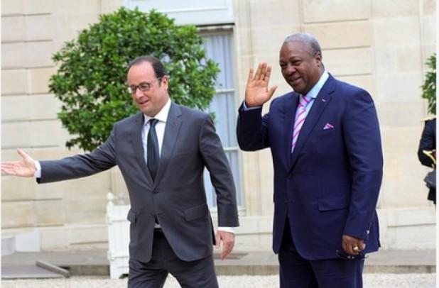 France President-Hollande & President Mahama