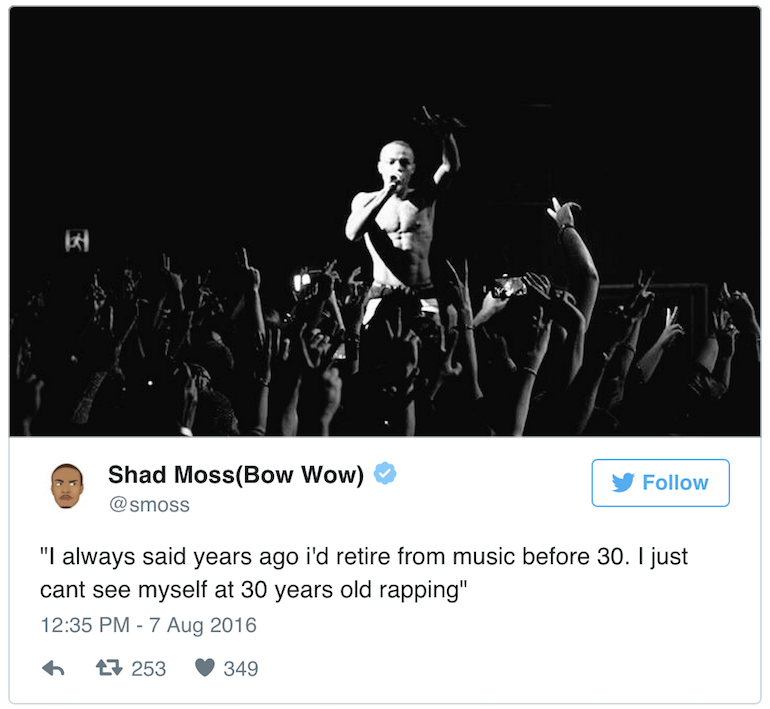 Bow Wow announces retirement