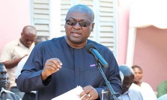 President Mahama wearing dark shades