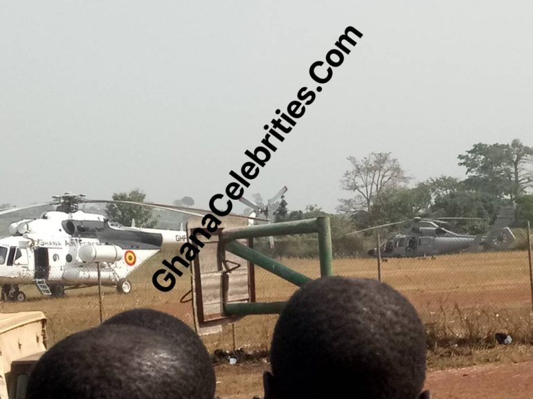 GC Eye Witness Report: Soldiers Storm Asante Akyim Agogo With Helicopters And Military Vehicles Over Fulani Disturbances