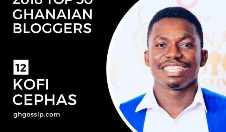 Ghgossip.com's Kofi Cephas Ranked 12th On Avance Media's 2018 Top 50 Ghanaian Bloggers